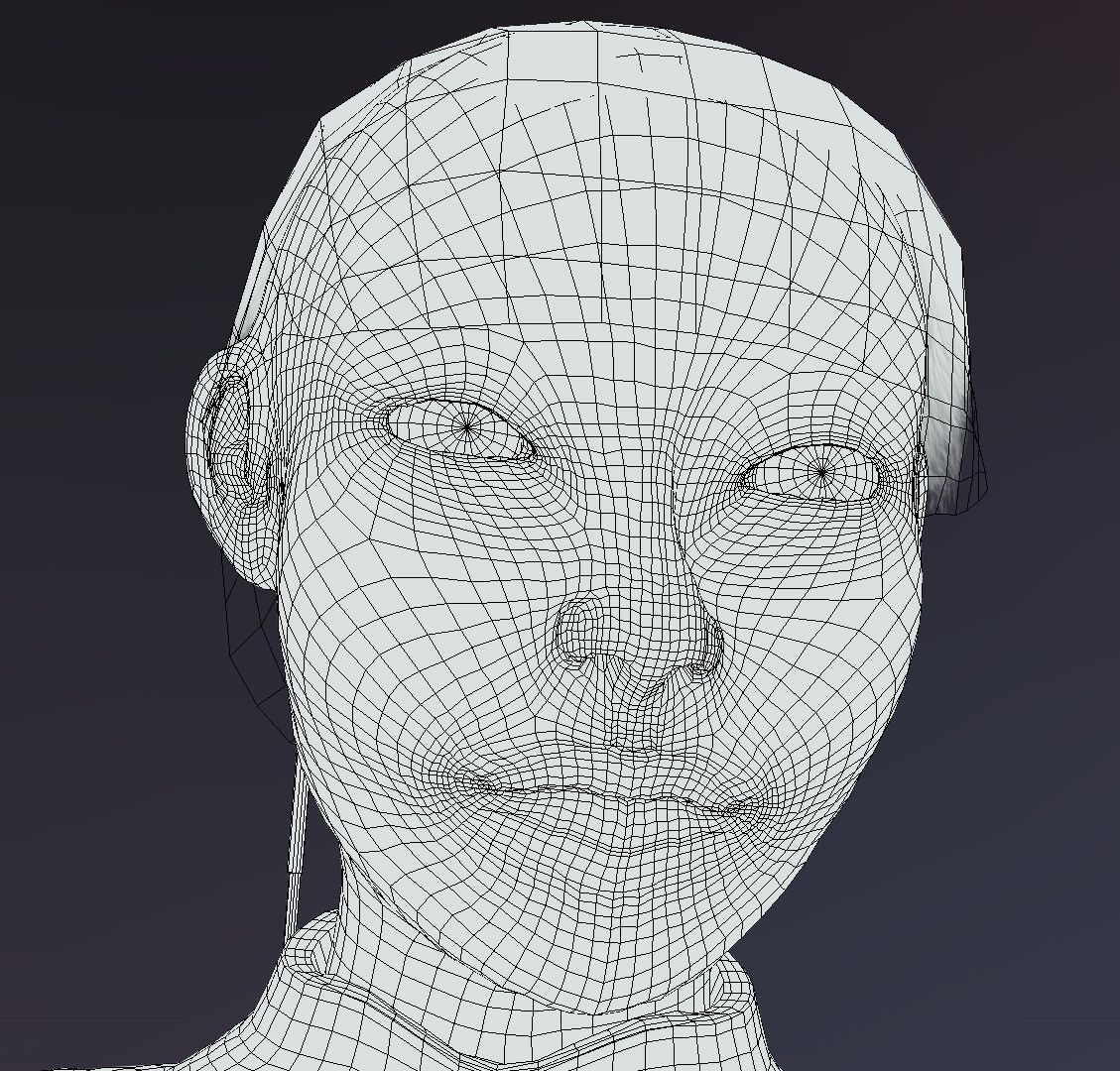 Wireframe face