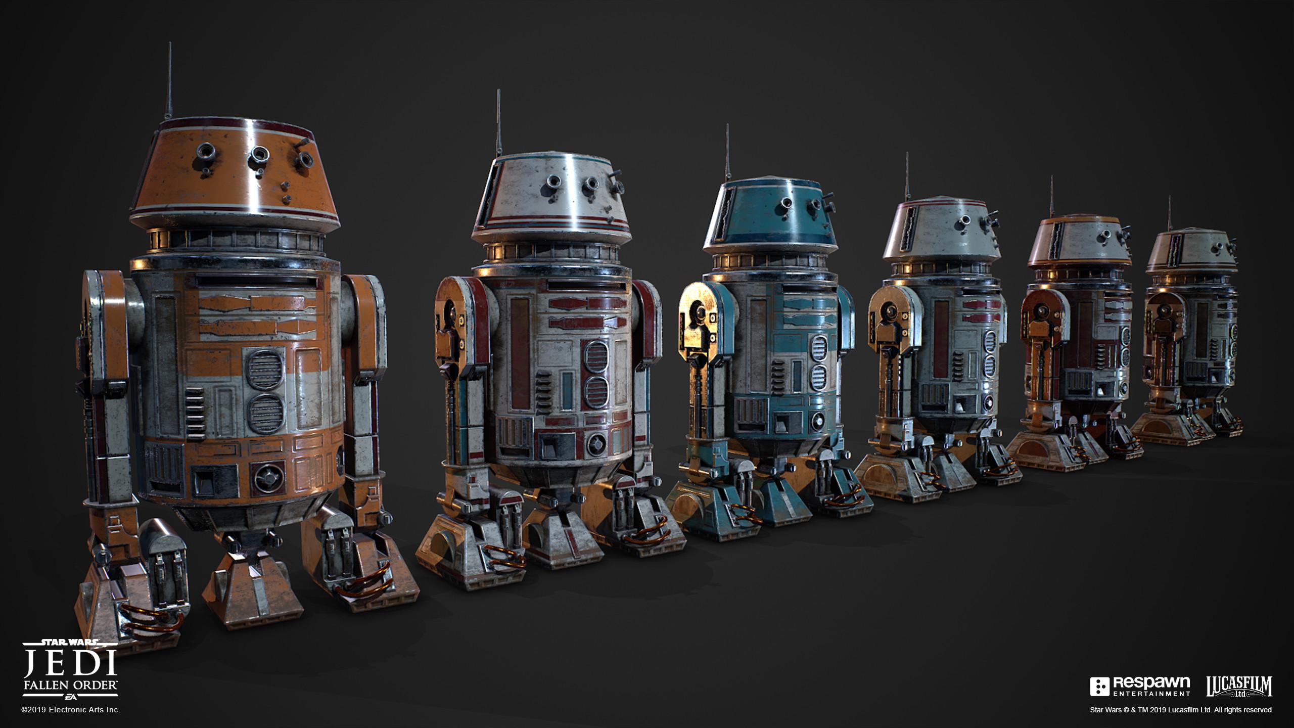 Evan Cwiertny S Portfolio Star Wars Jedi Fallen Order Bracca And Flashback Droids