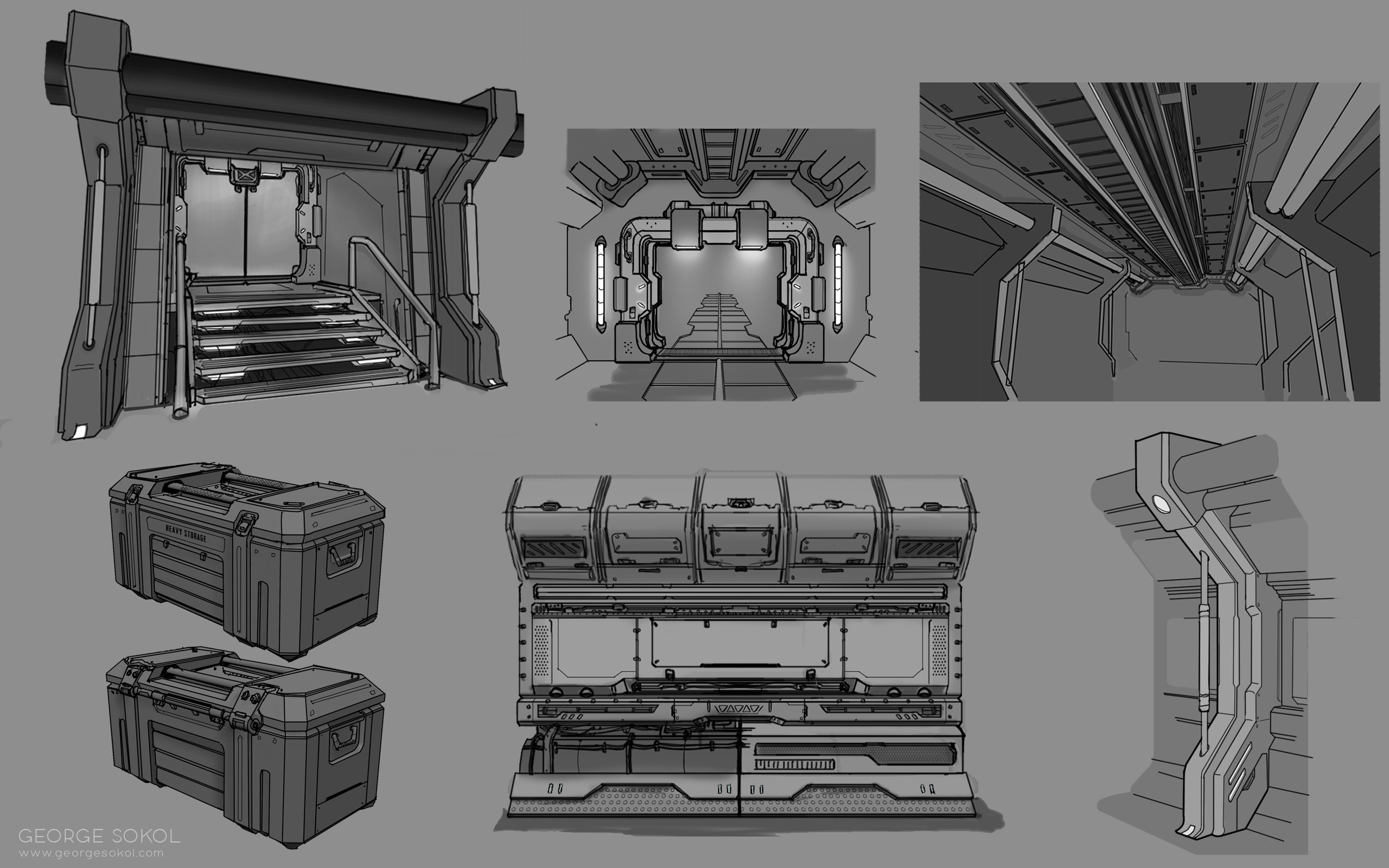 Line work for some of the individual assets.