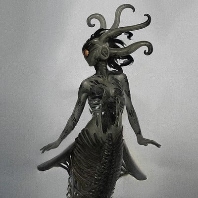 Travis lacey monster mermaid horror monster concept art travis lacey web