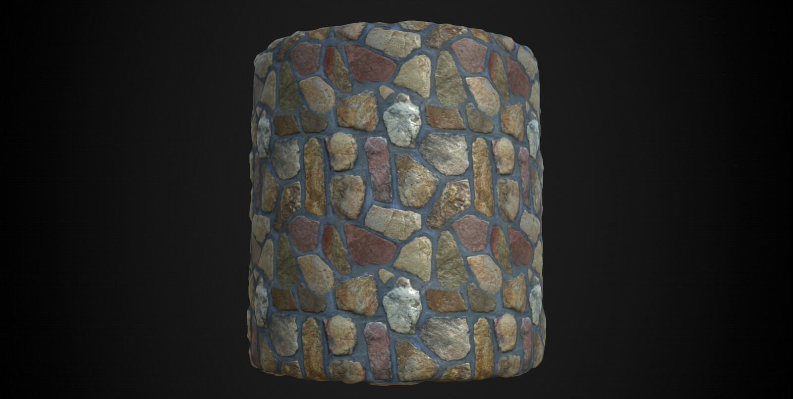 Stones wall material