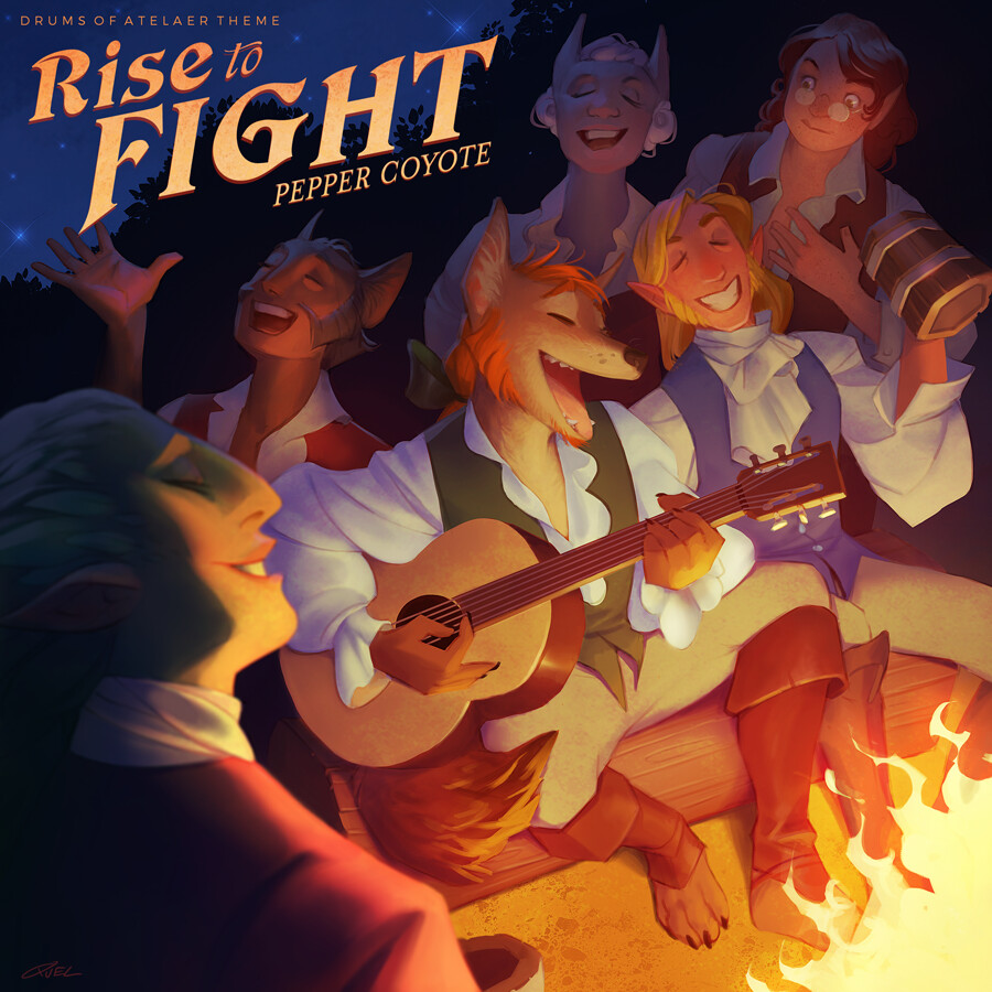 Rise to Fight: Drums of Atelaer Music Album Cover
