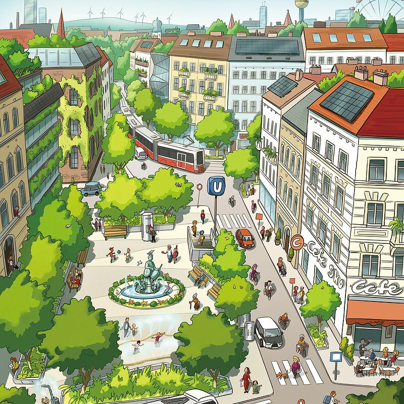 Vienna Climate Masterplan Illustration