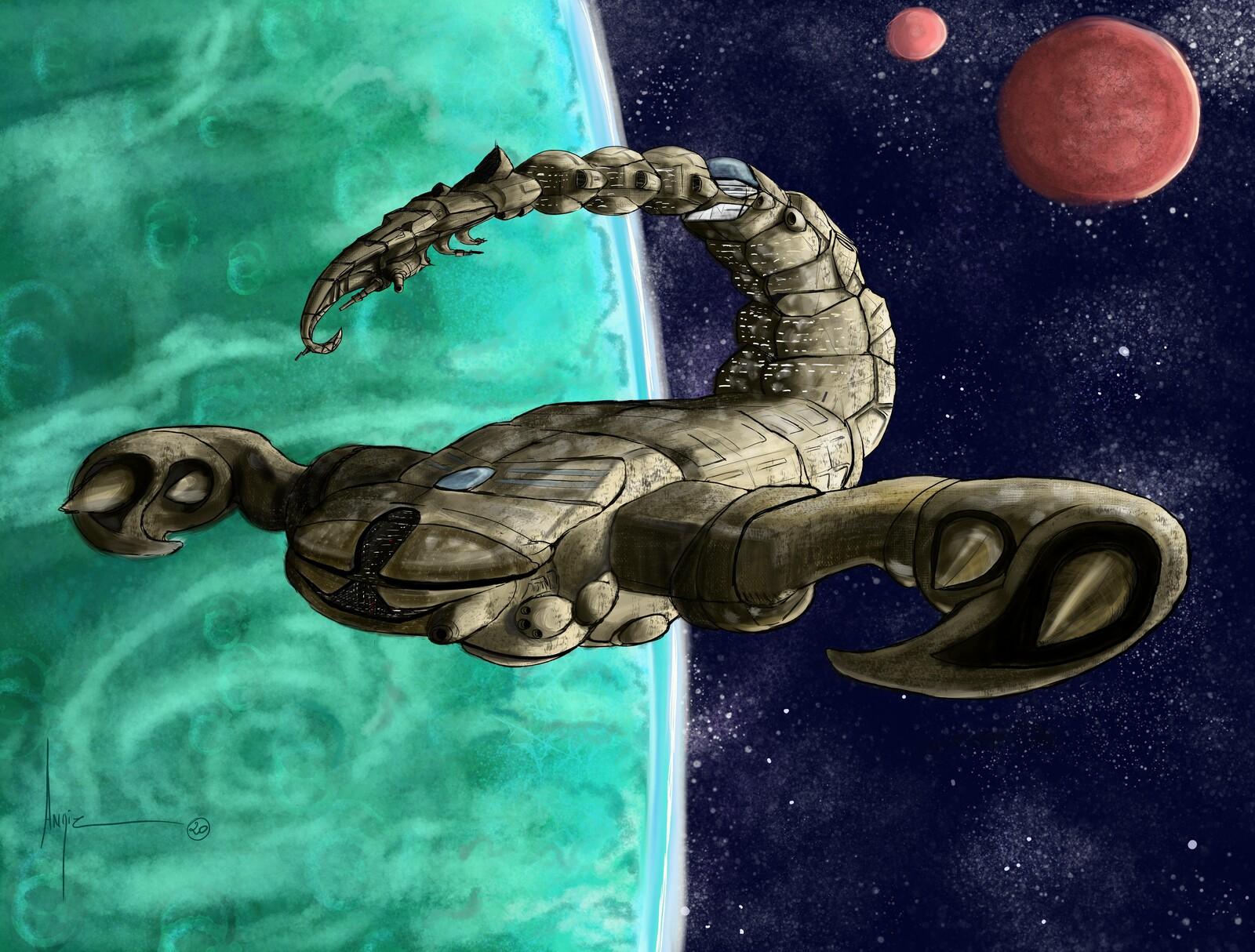 Creatuanary 2020 : Day 9 Flying Scorpion