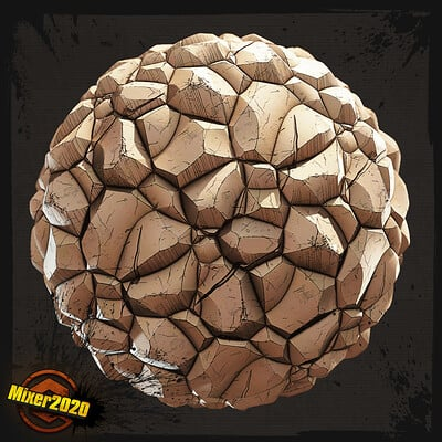 [Mixer 2020] Stylized Rocks Material