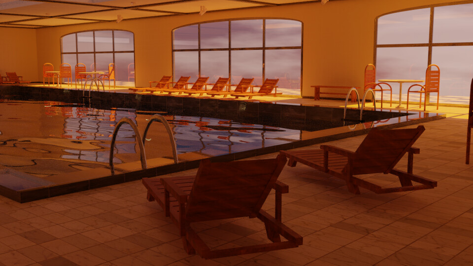 Pool 2 - Sunset