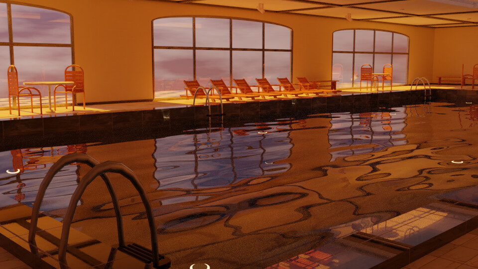 Pool 3 - Sunset