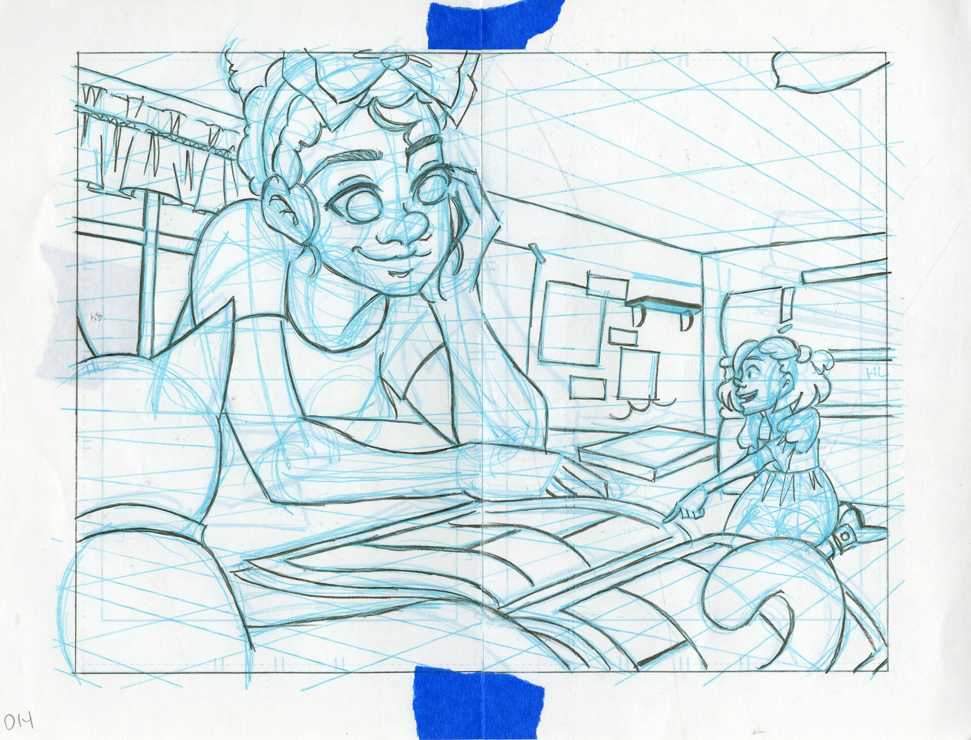Roughs- Double Page Spread 14&15