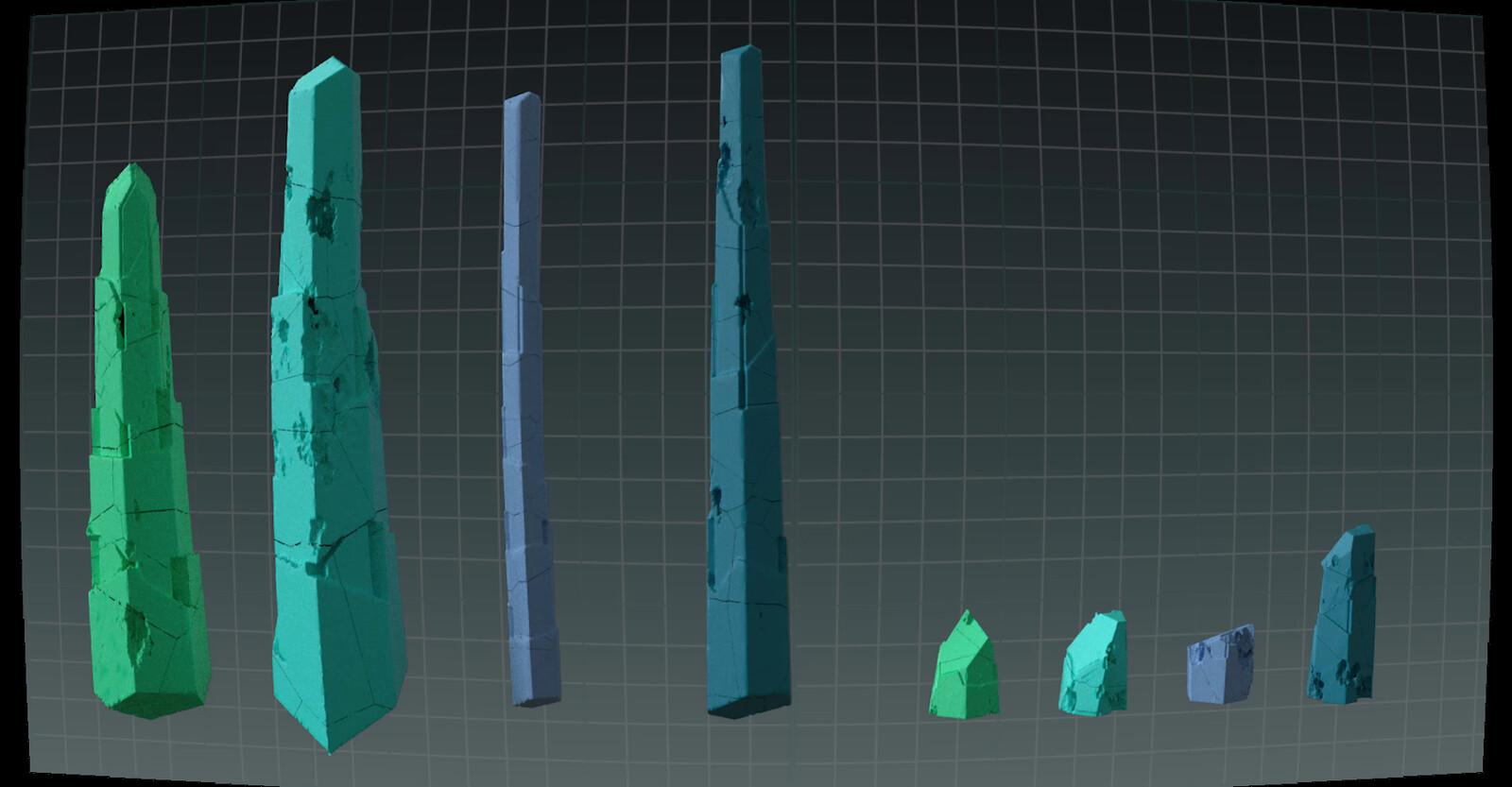 Using my crystal tool/setup to generate crystal variations