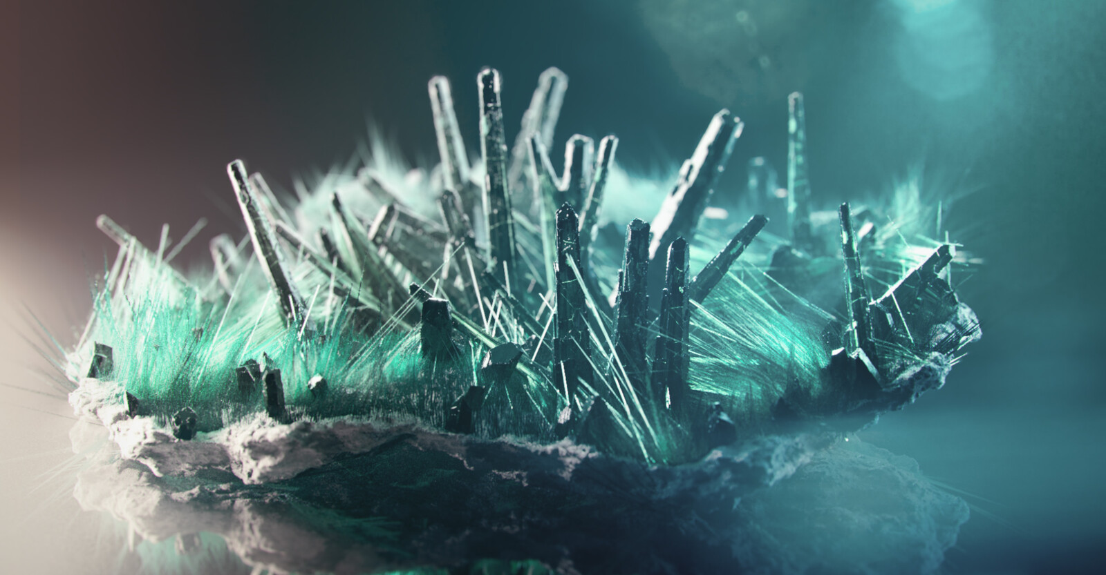 Fully Procedural mineral : Fibrous Malachite - Render A