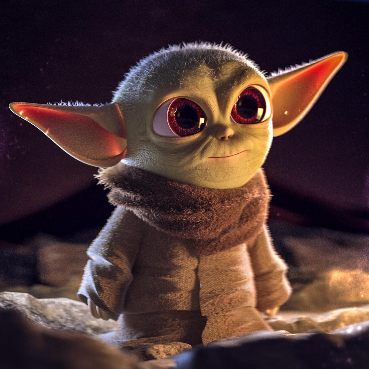 David Alvarez Baby Yoda Fan Art