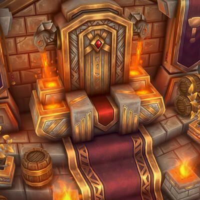 Bruno fortuna parrela dwarf throne