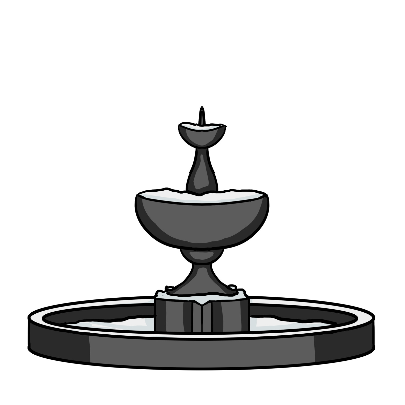Background sprite - a fountain