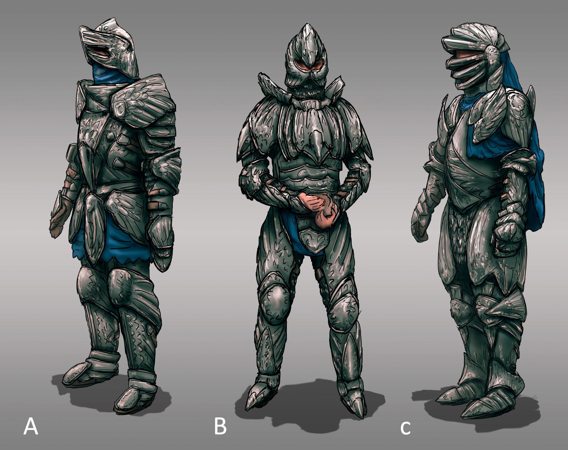 The Siege: Knight Armor Designs 01 (180min)   // Fantasy / Medieval / Props / Design