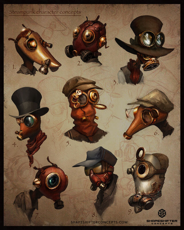 Shapeshifter concepts 200125 char steampunk 01
