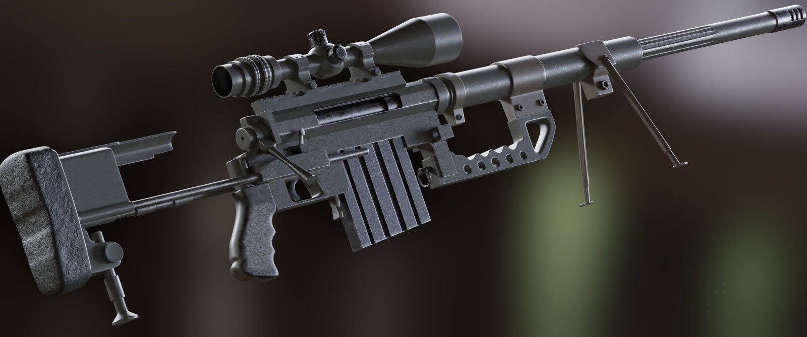 Cheytac m200 sniper rifle - renders part 2