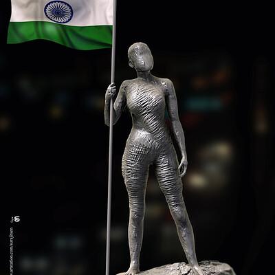 Surajit sen nation digital sculpture surajit sen jan2020s
