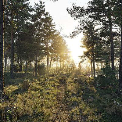 Mx lind nicolaisen madslindnicolaisen forest artstation final