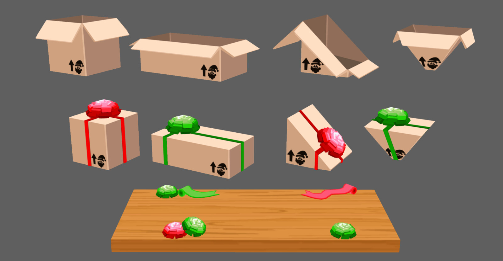 All the weird shaped boxes (to make it more fun and increase the difficulty)