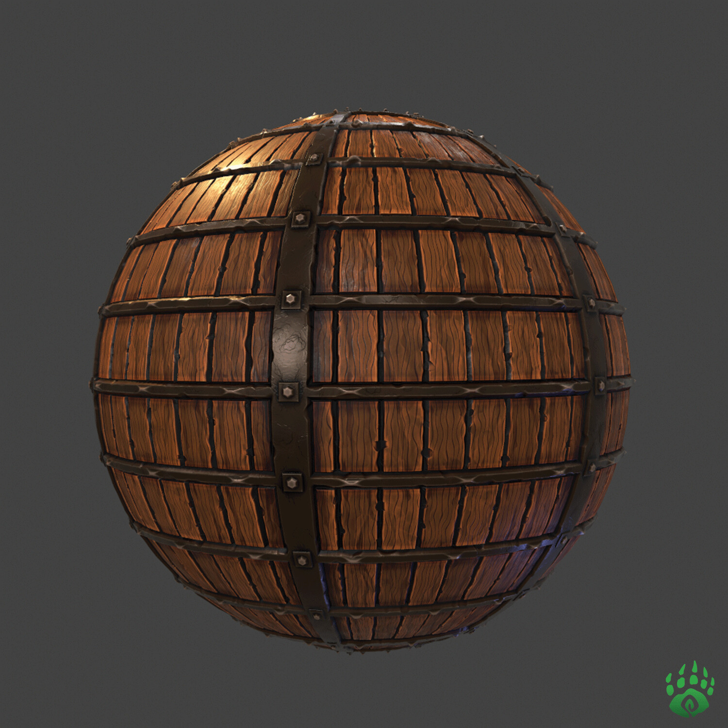 Stylized wood and metal material