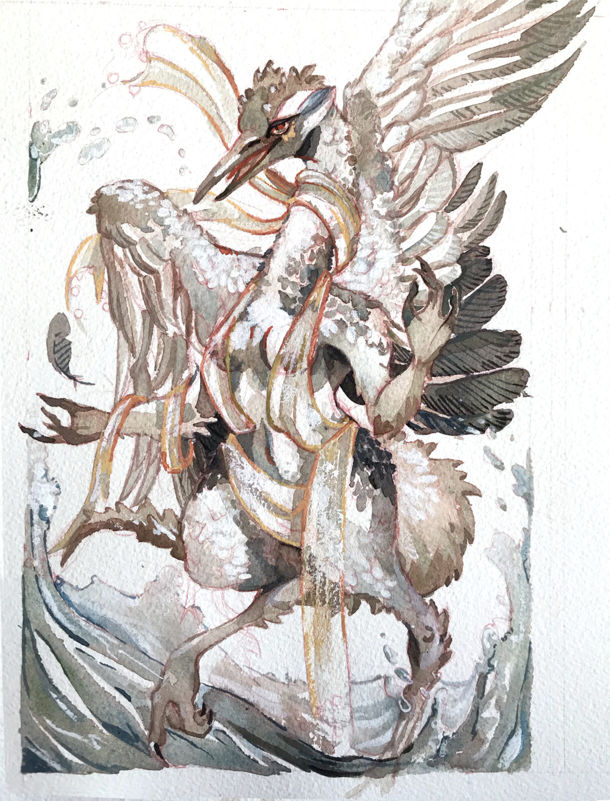 Personal Painting: Nile Harpy