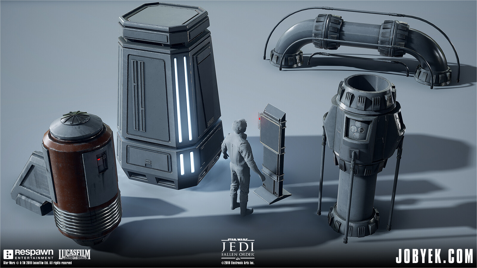 Various Imperial Props that I modelled and textured (except Exhaust Vent asset which is a re-textured DICE asset)
