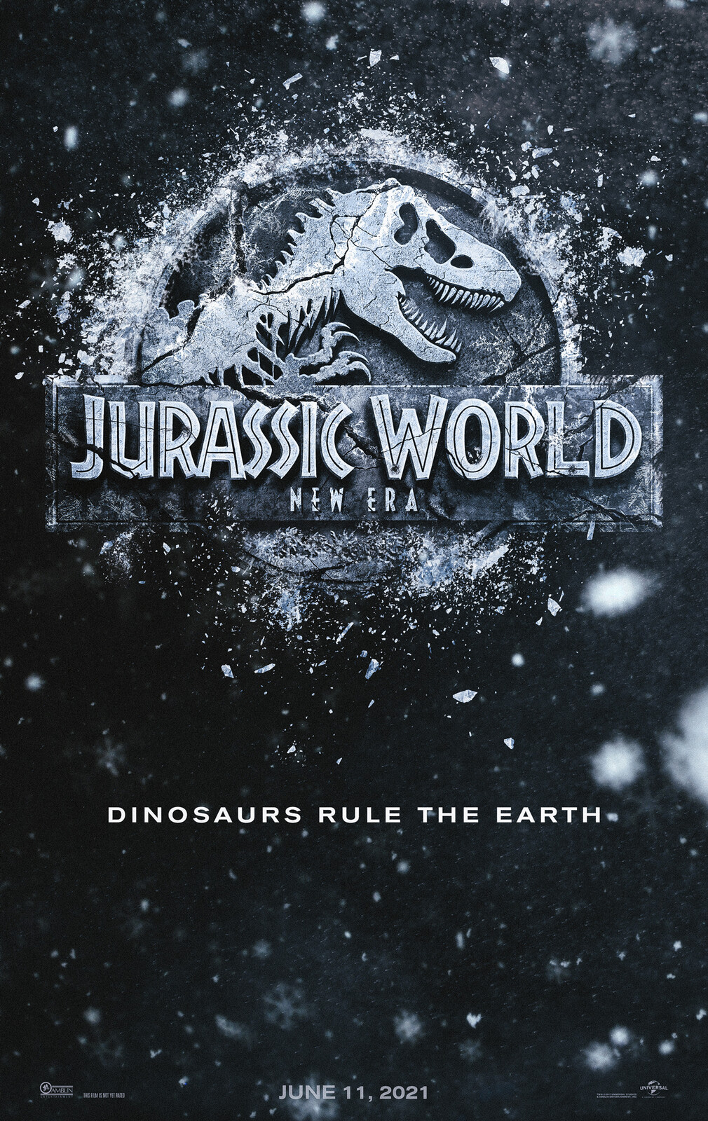 Jurassic World 3 - Jurassic World New Era - Movie Poster and Logo Concept