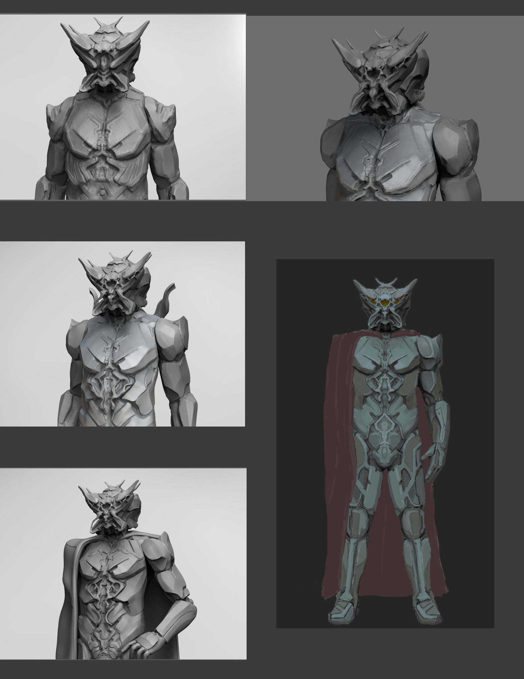 ZBrush and Paintover WIPs