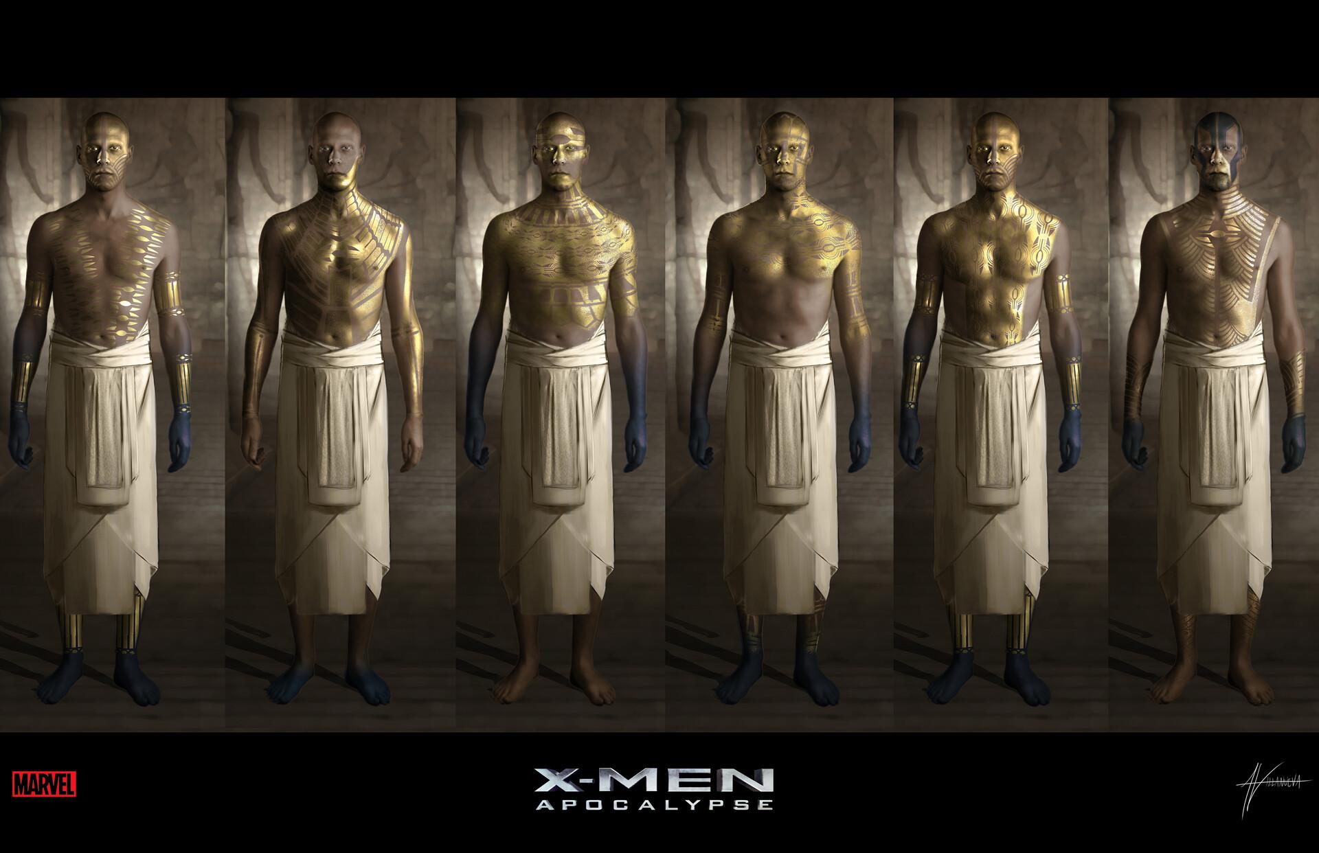 Alan Villanueva X Men Apocalypse Akkaba Ceremonial Slave Concepts