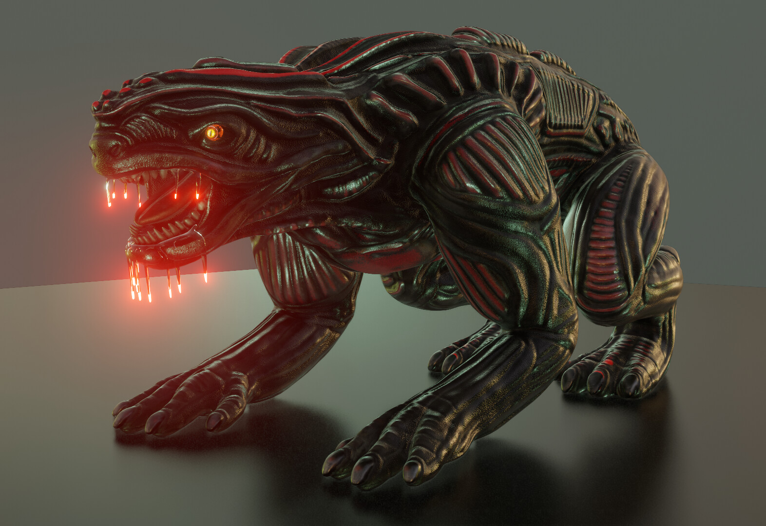 Here is an update of my alien animal creature for a use in Blender-2.8x  Free Donwloads: https://3dhaupt.com/2020/01/30/alien-animal-update-in-blender-2-8x/