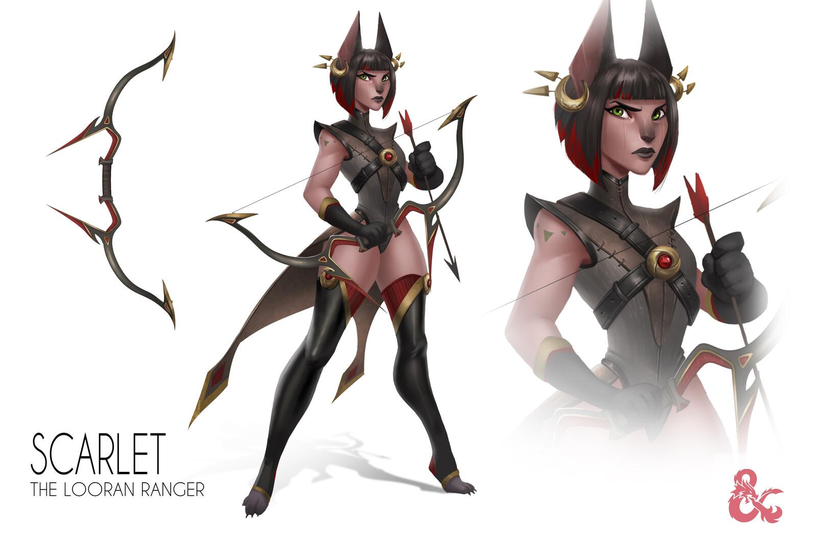 Scarlett, Half-Tabaxi Ranger