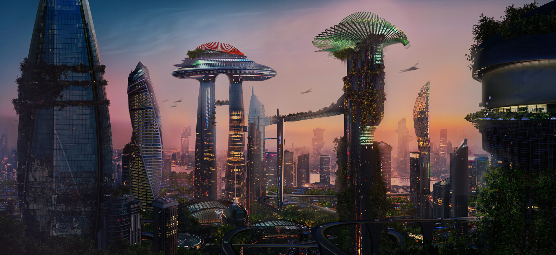 Sci - Fi  City concept art
