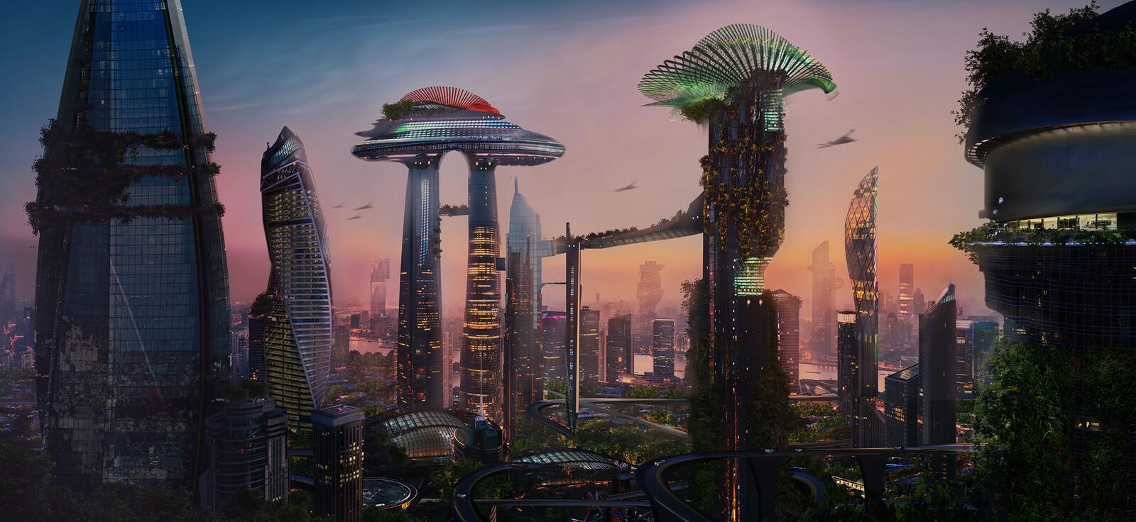 Concept  Art   Sci - Fi  CITY