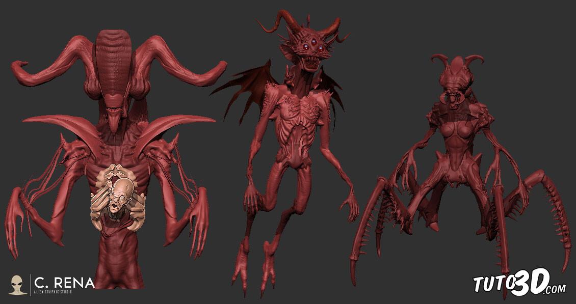 Quick kitbashing creature designs