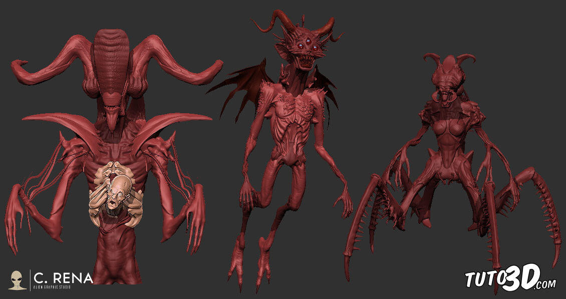 Quick kitbashing creature designs