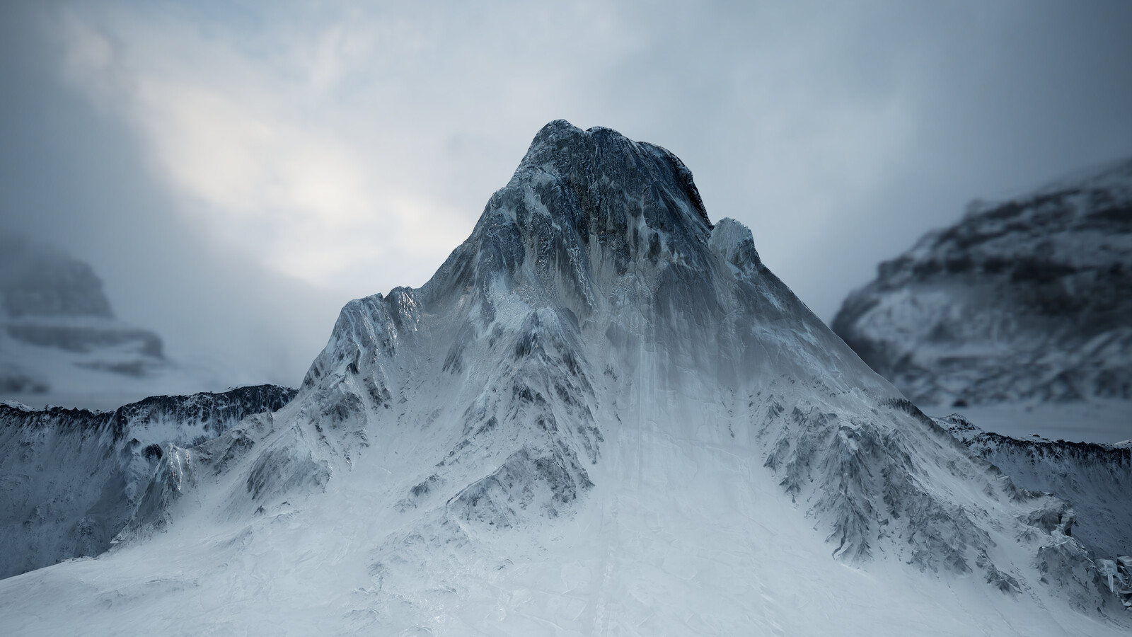 Snowy Mountain / Glacier for Unreal 4