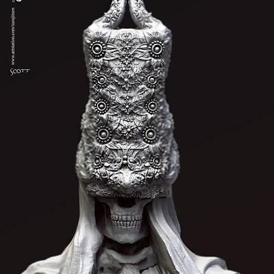 Surajit sen scott digital sculpture surajitsen jan2020s