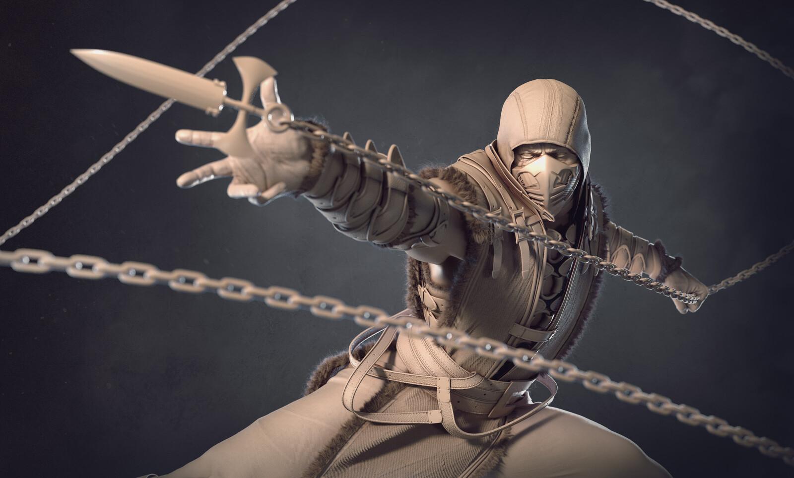 mortal kombat scorpion artstation
