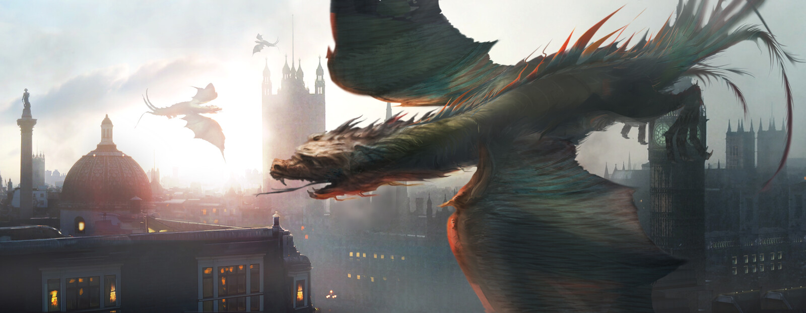 creature over london concept