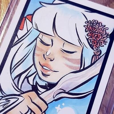 sketchcard - aeryn (FFXIV)