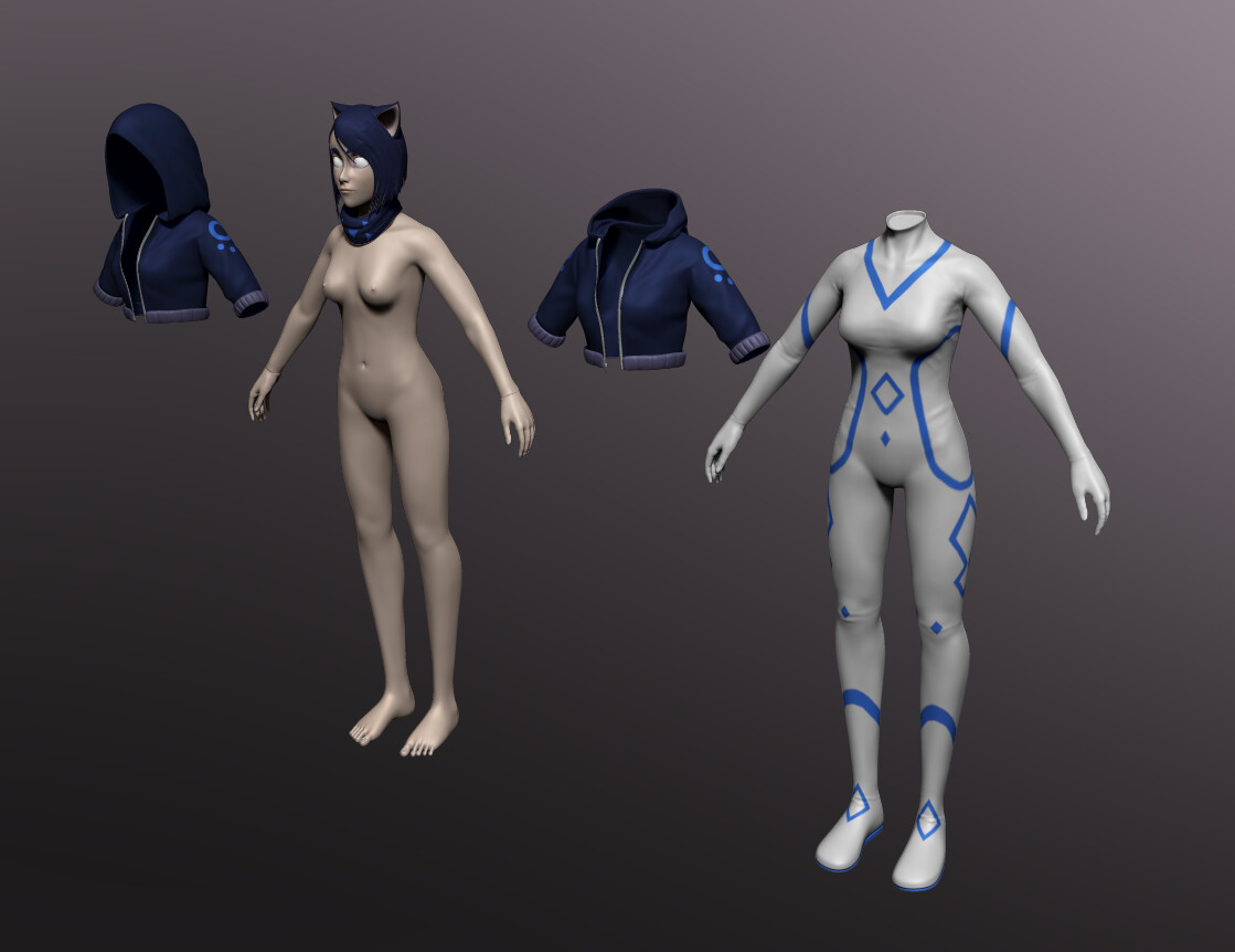 High Poly meshes