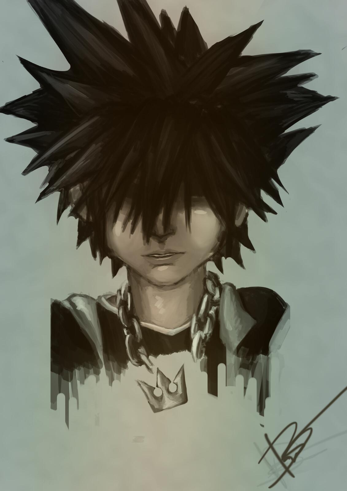 Sora  Kingdom Hearts -  Smudge Style