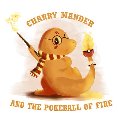 Patrycja przelucka charry mander and the pokeball of fire othertees 30x30