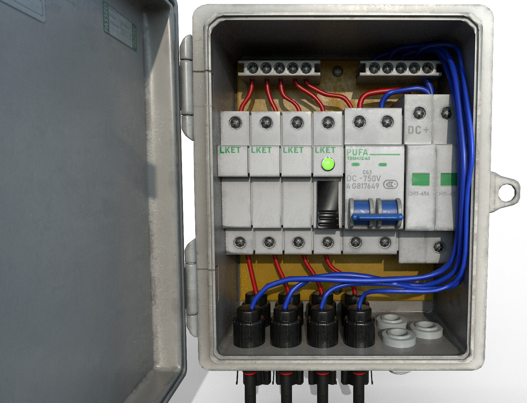 artstation - electrical fuse box, zachary creer  artstation