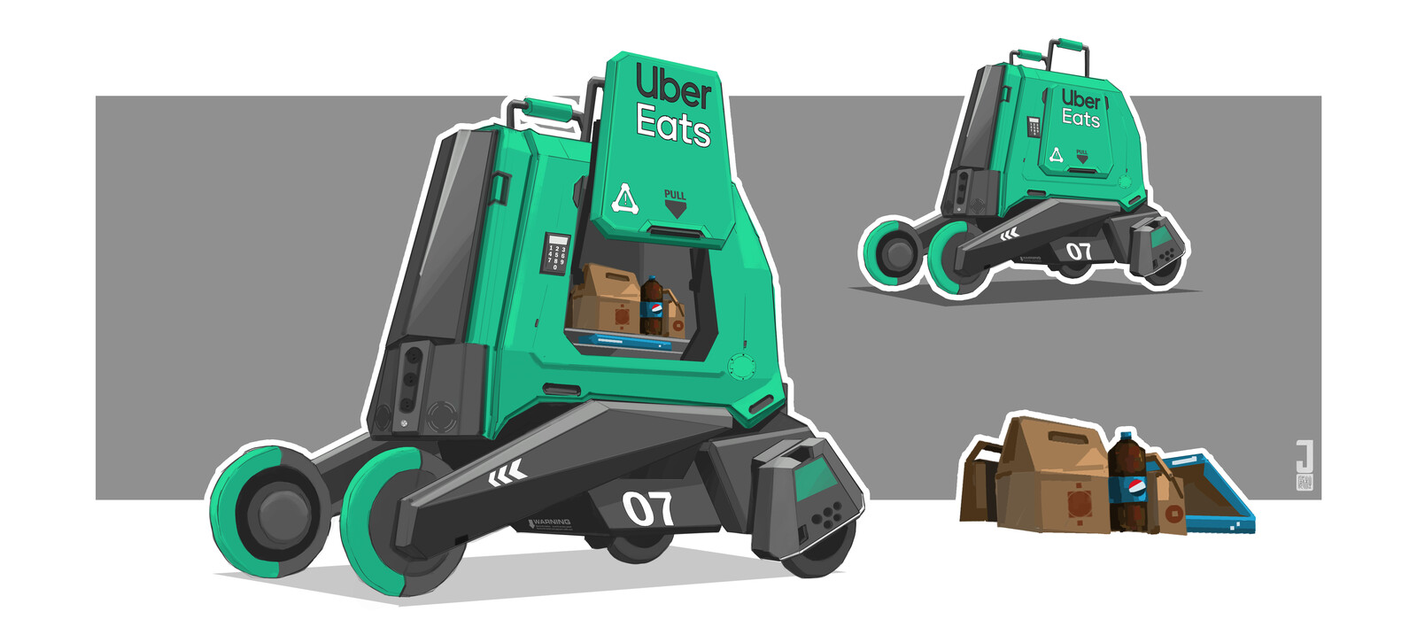Automated food delivery concept