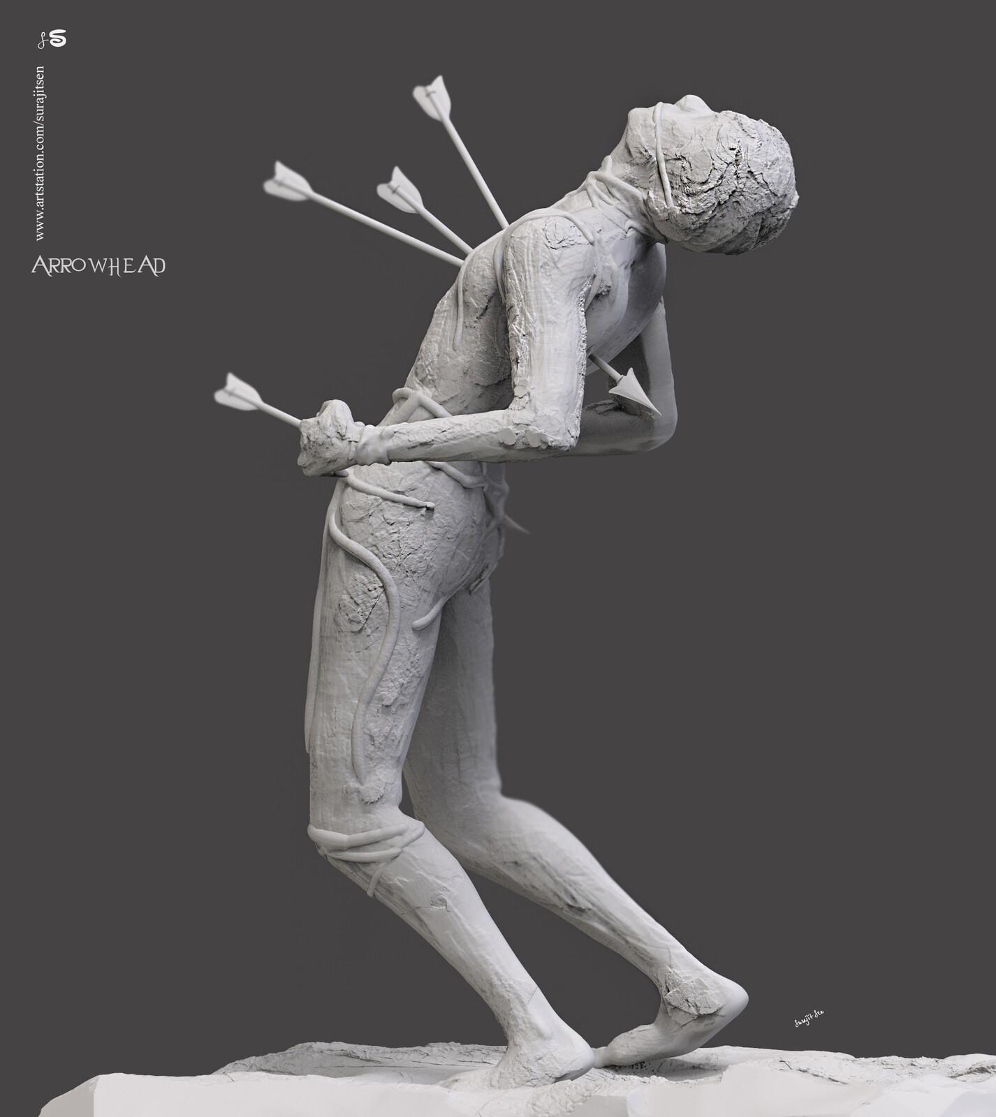 Arrowhead....one of my free time speed Digital Sculpture. #updatedversion😎 #surajitsen #artist #indianartist