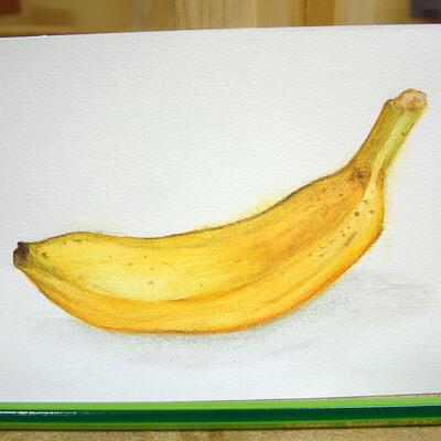 Horst peter bittmann banana speedpaint watercolor pencils