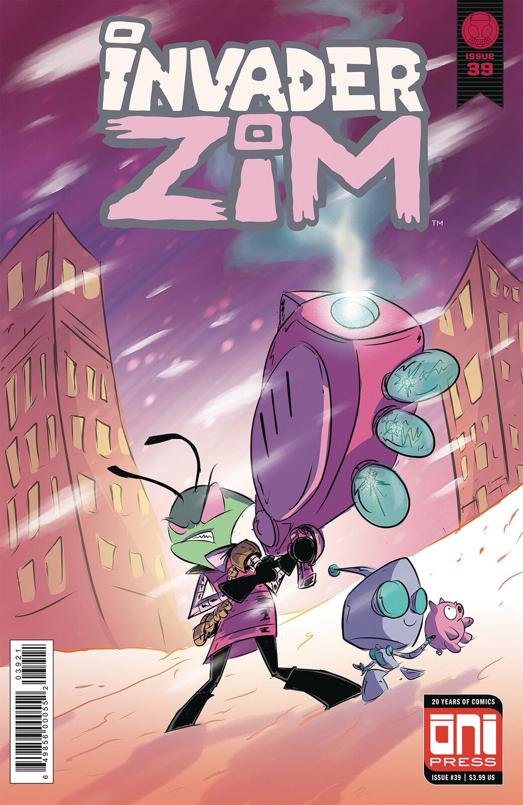 Invader Zim Cover done for Oni Press
