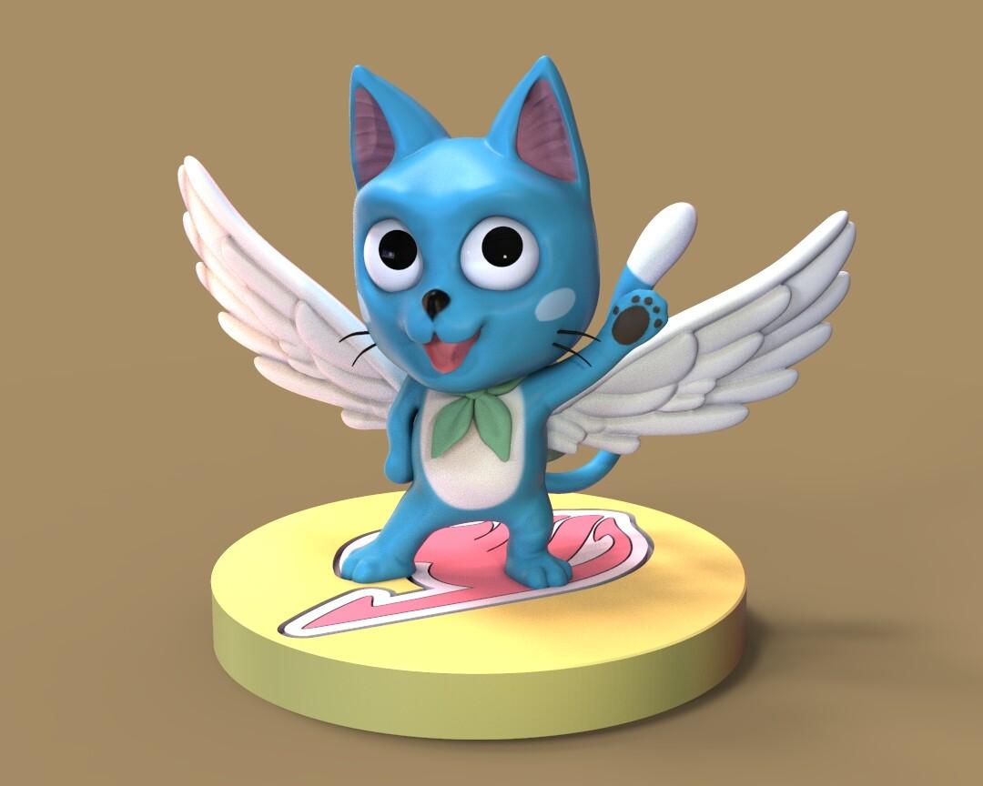 Happy - Fairy Tail (Fan Art)