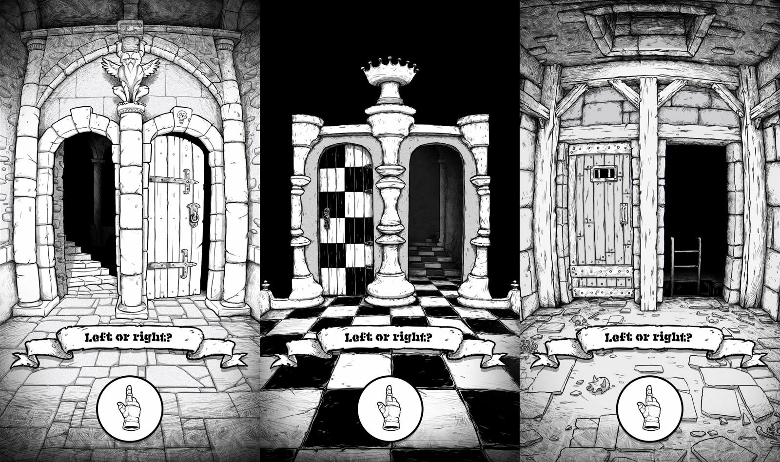 These environments can be roamed based on your knowledge of the topology of the dungeon.